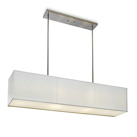 white rectangle l shade buy sharper image rectangular pendant l with off white