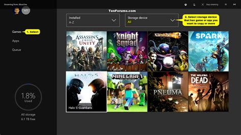 xbox 9ne games move or copy xbox one and apps between storage devices tutorials