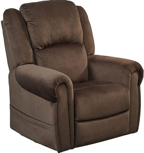 spencer chocolate power lift lay flat recliner 4859 1903