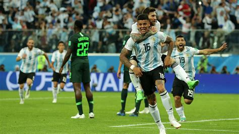 super eagles exit world cup  defeat  argentina