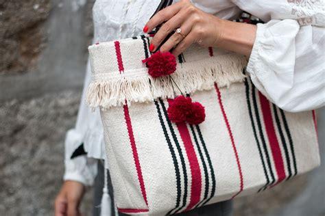 diy fashion handtasche aus teppich naehen ikea hack