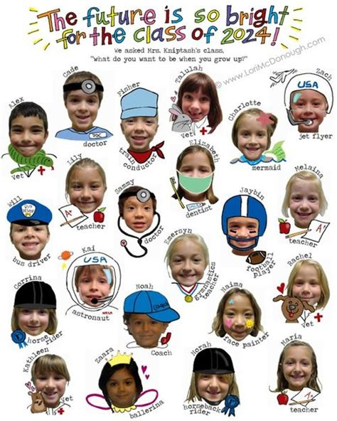 an artsy preschool yearbook add an illustrated career 922 | 3 26 2015 career aspirations