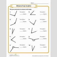 Measuring Angles  Worksheet Educationcom