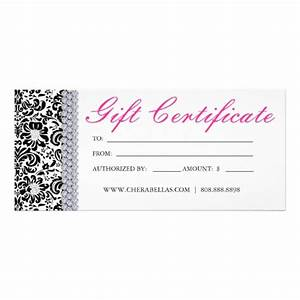 free printable hair salon gift certificate template 24 With salon gift certificate template free download