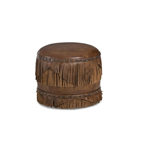 hancock and moore leather ottoman hancock and moore 039 margo leather fringed ottoman