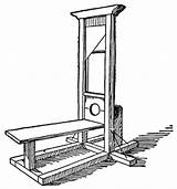 Guillotine Clipart Etc sketch template