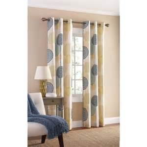 mainstays hanging medallion grommet curtain panels set of