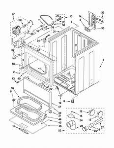 Cabinet Parts Diagram  U0026 Parts List For Model Wed5600xw0 Whirlpool