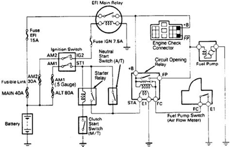 Renault Clio Towbar Wiring Diagram by Wiring Diagrams Toyota 4runner 1989 Fuel Wiring