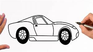 How to draw a SPORT CAR (Ford Mustang GT) step by step   Easy Drawing Tutorial - YouTube