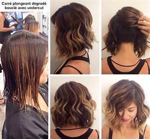 Carré Plongeant Long Bouclé : cheveux carre plongeant mi long coloration des cheveux ~ Melissatoandfro.com Idées de Décoration
