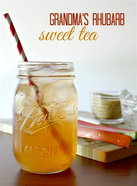 tea recipe grandma s iced rhubarb tea recipe