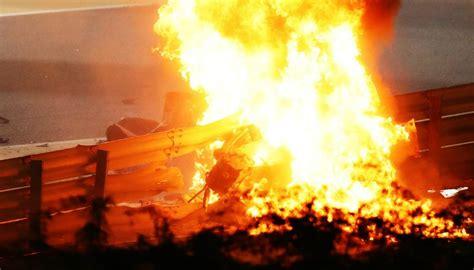 Motorsport: Romain Grosjean survives terrifying, fiery ...