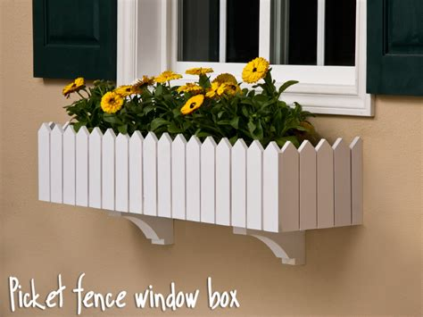 picket fence window box  cleat mounting system