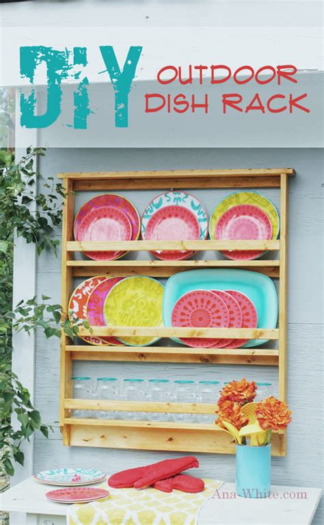 ana white outdoor dish plate rack diy projects