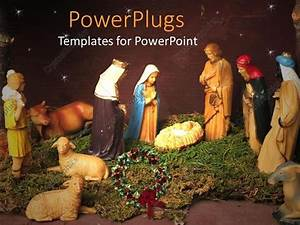Powerpoint Template  Christmas Theme Representing Nativity