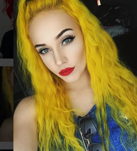 With Yellow Hair by 17 Best Ideas About Yellow Hair Dye On Yellow