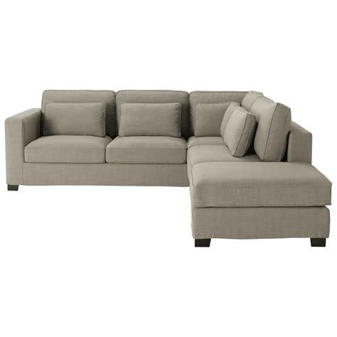 canapé d angle 5 places canapé d 39 angle 5 places en tissu gris maisons du