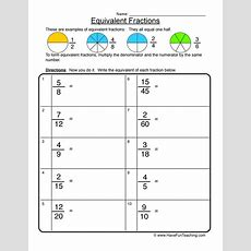 Equivalent Fractions Worksheet 1