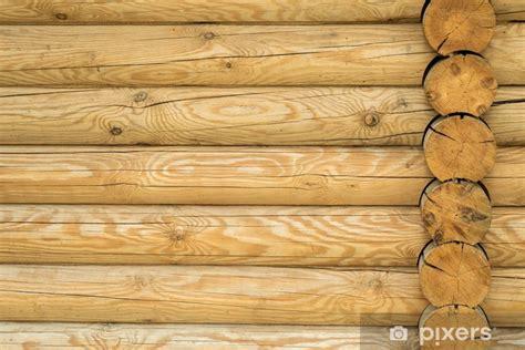 vinilo pixerstick textura una pared hecha de troncos de