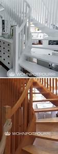 Treppen Streichen Ideen : stiegenaufgang schleifen und wei streichen white staircase haus diy pinterest treppe ~ Orissabook.com Haus und Dekorationen