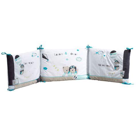 chambre sauthon bleu lazare tour de lit bleu de sauthon baby déco tours de lit