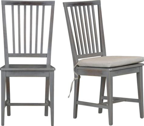 grigio wood dining chair and cushion
