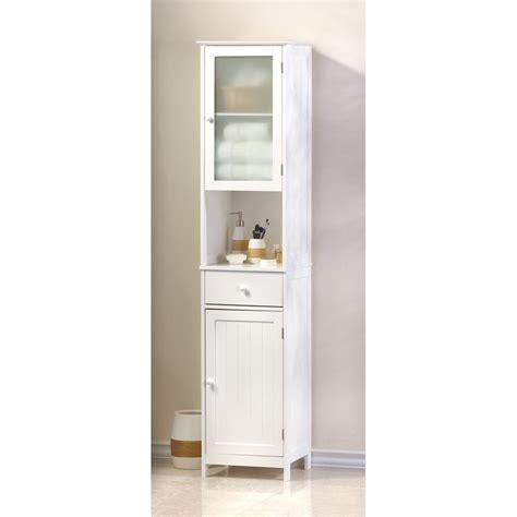 White Tall Narrow Bathroom Organizer Kitchen Storage Small
