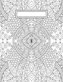 Printable Binder Cover Coloring Page
