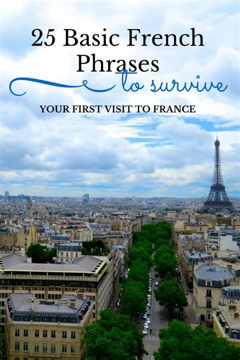 25 Basic French Phrases To Help You Survive Your First ...