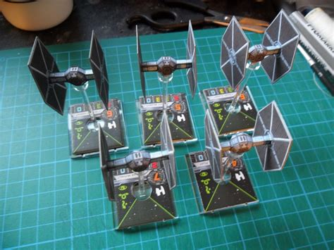gibbering madness papercraft tie fighters