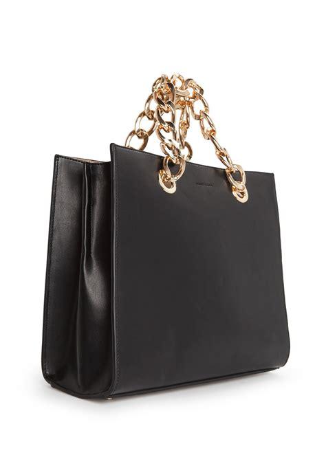 mango chain tote bag  black lyst