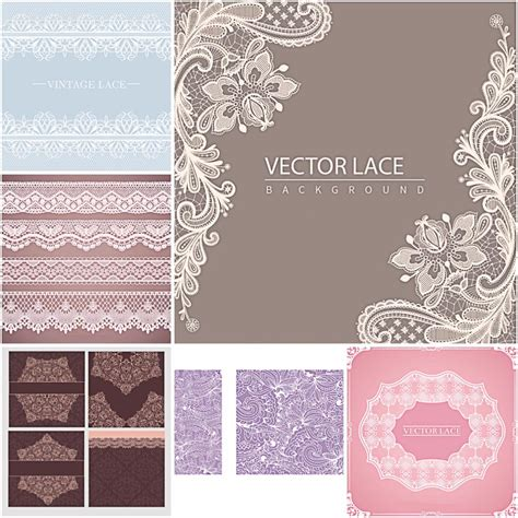 laces backgrounds ornate vector