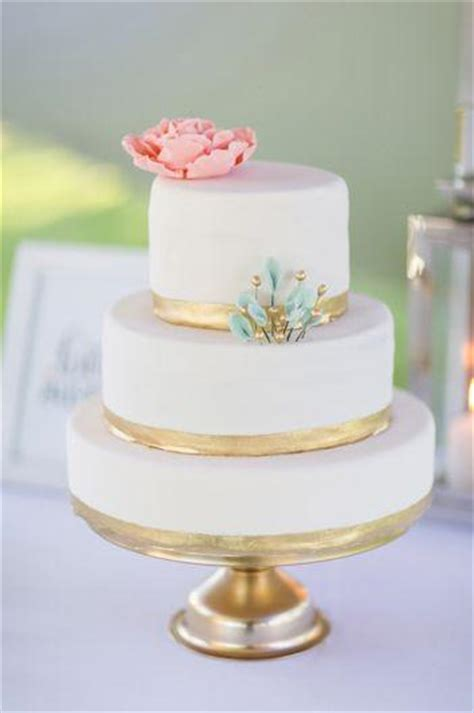 Mint Wedding Pink Mint And Gold Wedding Cake 2179327