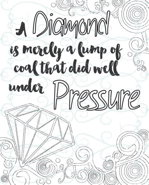 adult inspirational coloring page printable   pressure