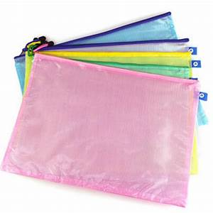 10pcs lot document file bag holder storage case cosmetic With plastic document bag