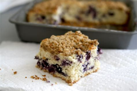 blueberry buttermilk coffee cake  streusel topping