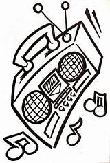Radio Coloring sketch template
