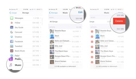 how to delete songs iphone how to delete all locally stored music from your iphone How T