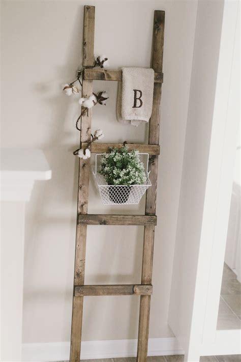 diy rustic ladder with furring strips rustic diy rustic