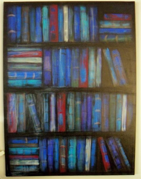 make the best of things blue bookcase painting