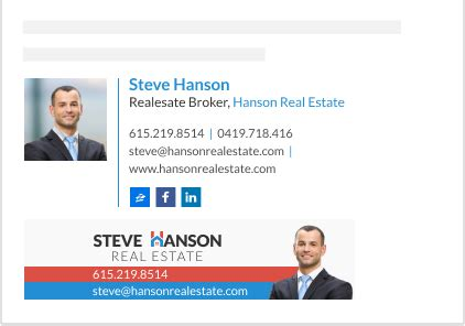 realestate email signature templates