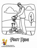 Coloring Scooter Preschool Skateboard Colouring Transportation Pages Yescoloring Boys Fun sketch template