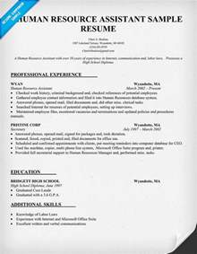 human resource resume sles career objective exles human resources