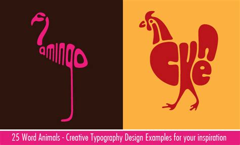 creative word animal typography designs   fleming