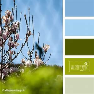 Farbpalette Wandfarbe Grün : fr hlingsfrische farbpalette farbinspiration hellblau gr n fr hling wildpeppermint ~ Indierocktalk.com Haus und Dekorationen