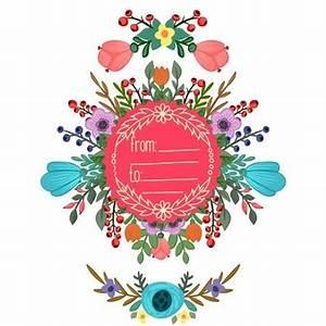fleurs avec ruban vecteur telecharger des vecteurs With affiche chambre bébé avec bouquet rond