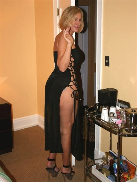 Blonde Milf In A Sexy Black Dress Porn Photo Eporner