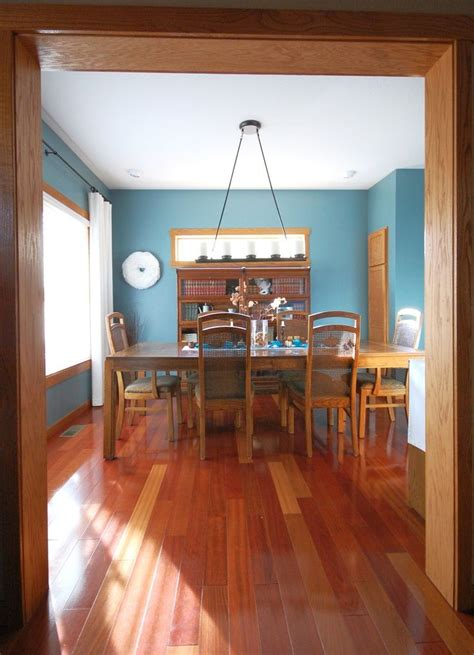 My Dining Room With Oak Trim (paint Color Sherwin
