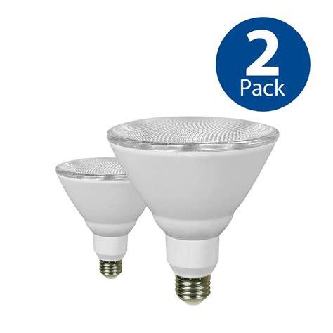 2 bulb light fixture shop utilitech 2 pack 90 w equivalent daylight par38 led